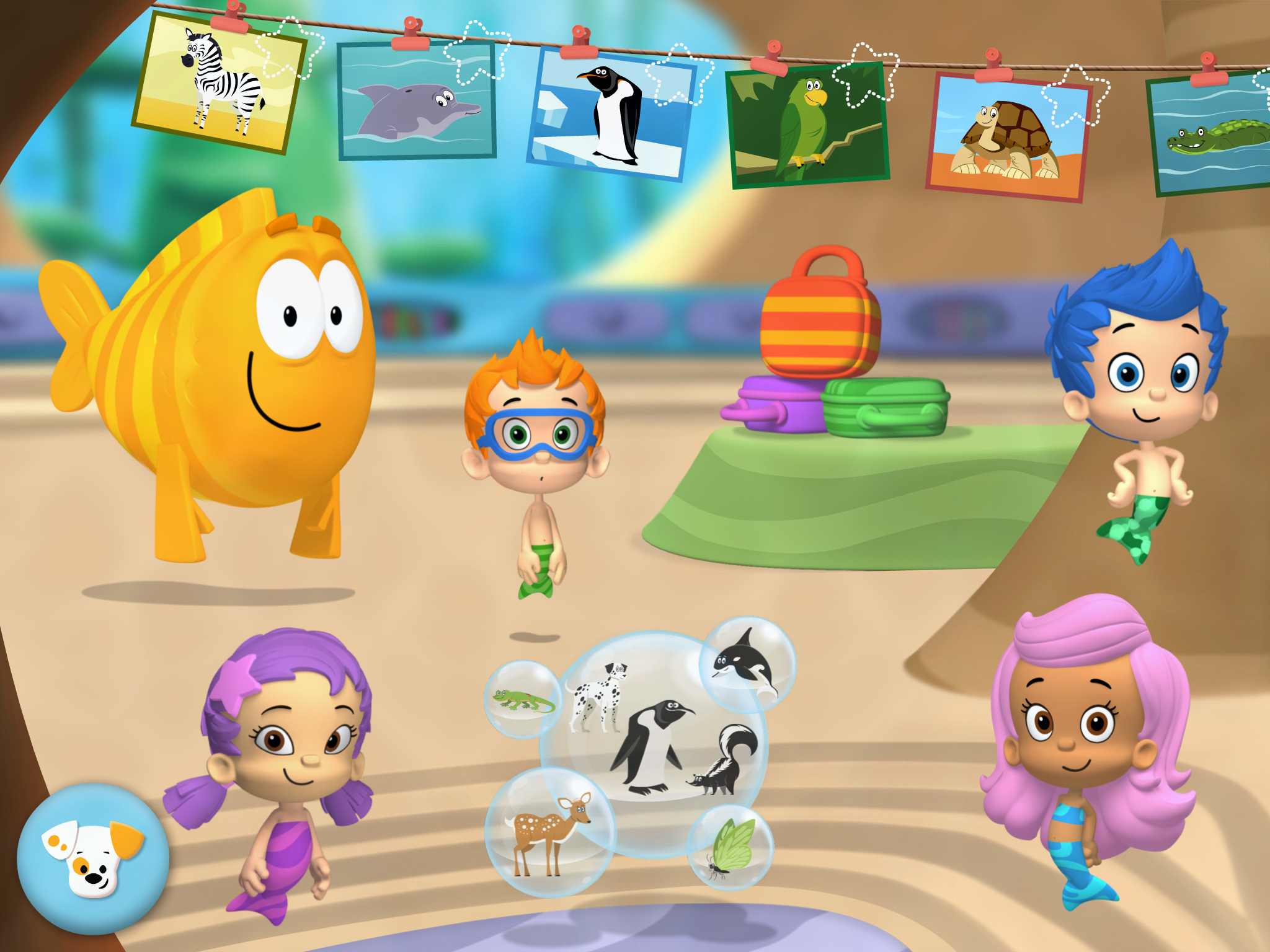 Bubble guppies animal school day app bb product reviews - Bubulles guppies ...