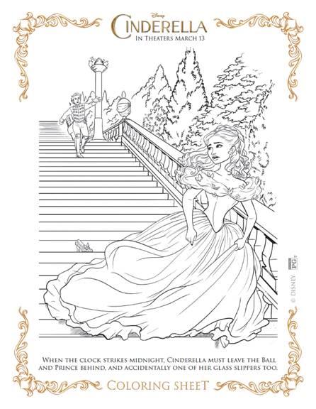 Disney Cinderella Coloring Sheets - BB Product Reviews