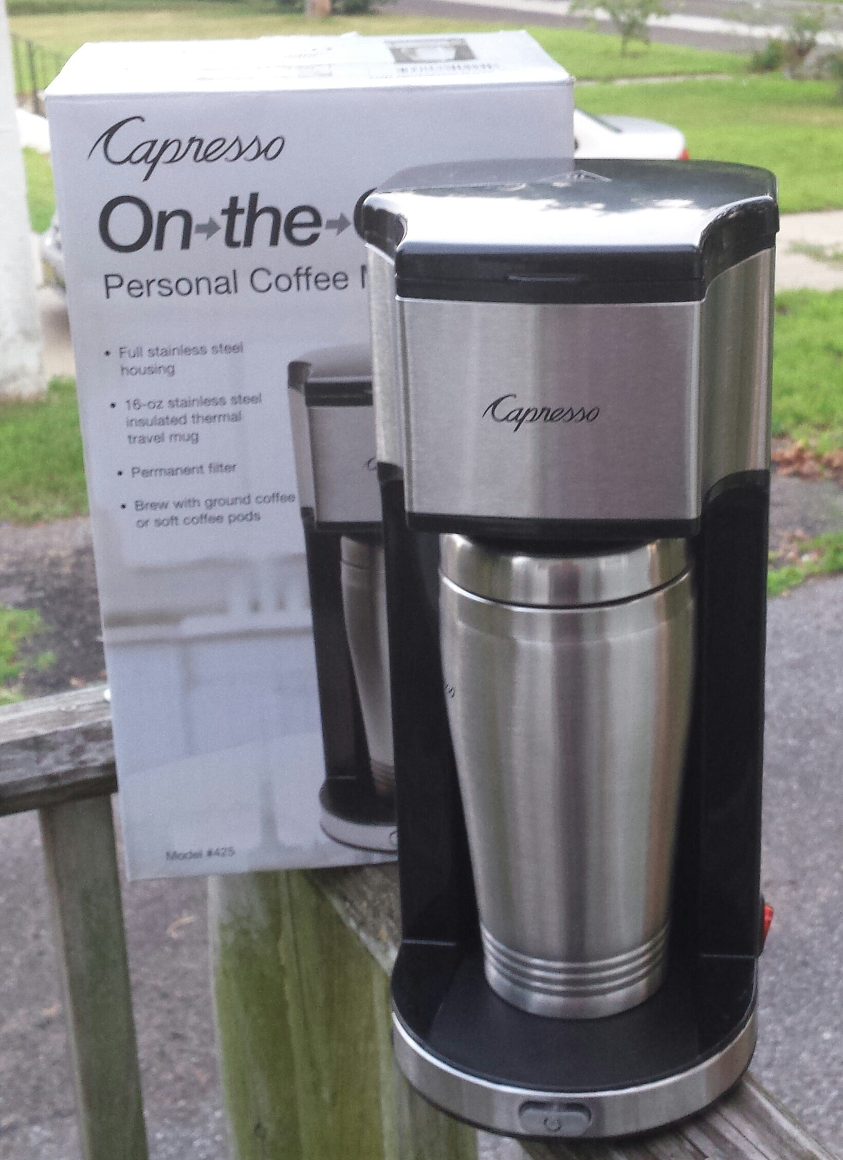 Capresso On-the-Go Personal Coffee Maker for #Back2School - BB Product Reviews