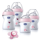 Chicco NaturalFit Newborn Gift Set – Pink Deco