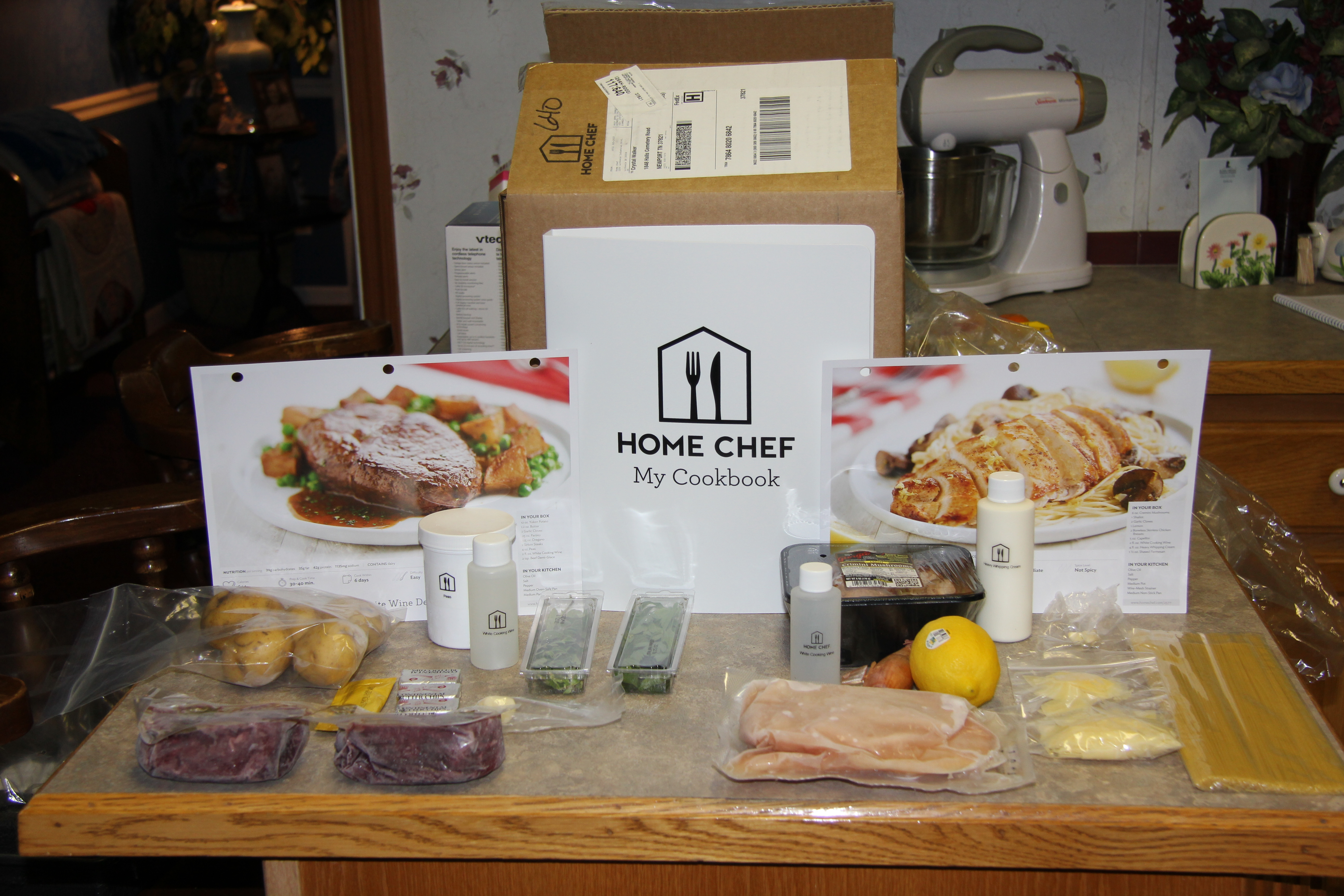 Home chef meal delivery review bb product reviews for Chef comes to your house