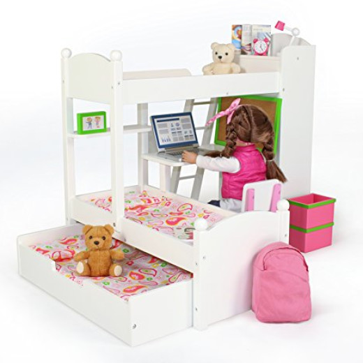 Holiday Gift Idea For Little Girls Eimmie 18 Inch Doll Bunk Beds W