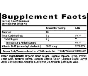 Organic-B12-Supplement-Facts
