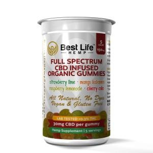 Buy-CBD-Oil-Online-Best-Life-Hemp-Full-Spectrum-Organic-CBD-Infused-Gummies-5ct-150mg